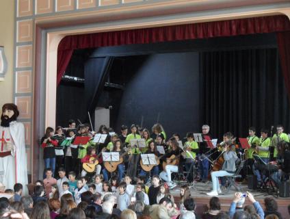 Actuació final del concert a Barberà de la Conca